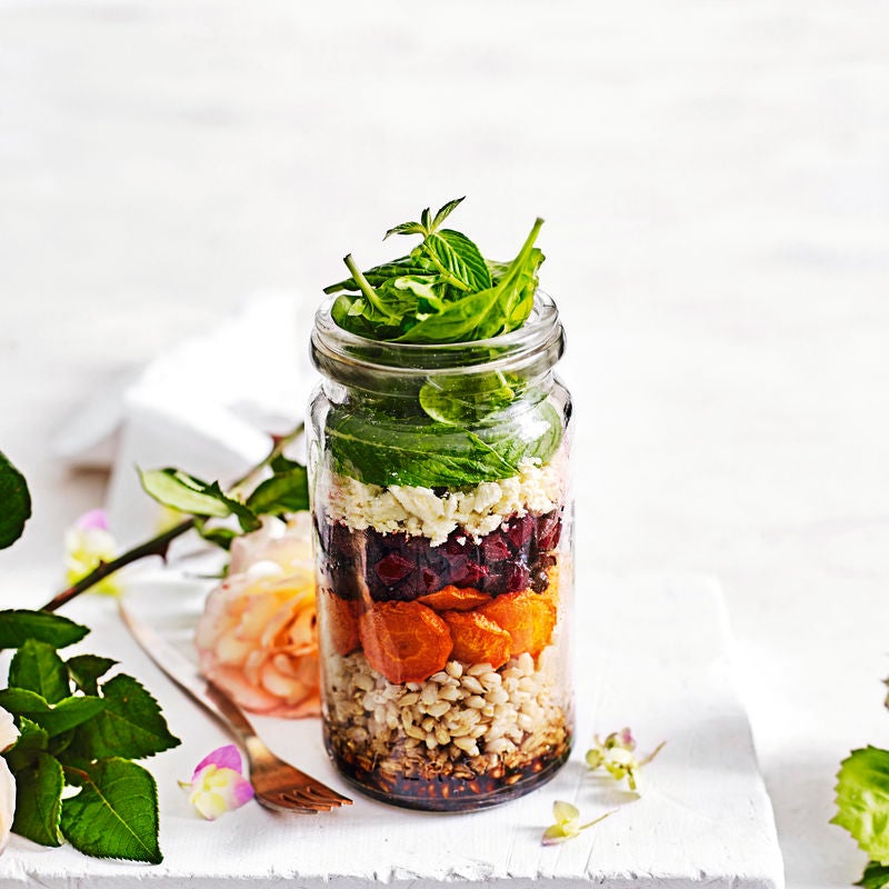 Photo of Roasted root vegetable & feta salad jar by WW