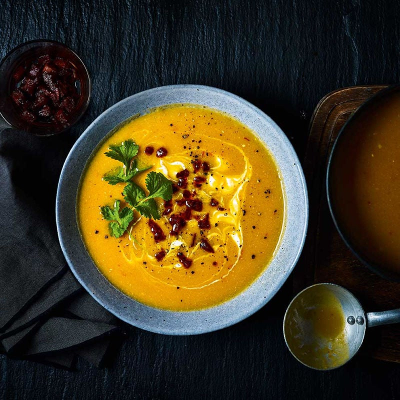 Photo of Creamy pumpkin soup with a chorizo crumb by WW