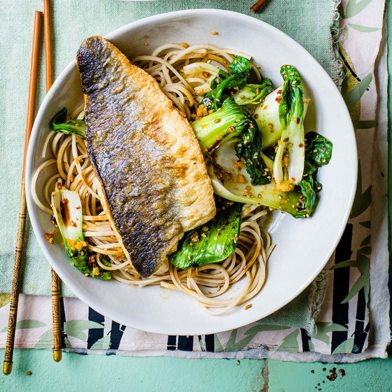 Photo of Crispy white fish with sesame noodles by WW