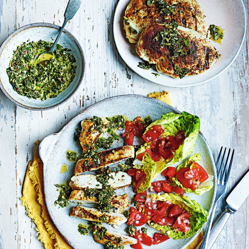 Photo of Grilled chicken with mint chimichurri by WW