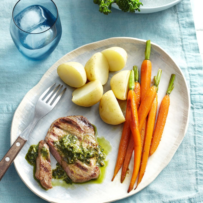 Photo of Grilled lamb steaks with honeyed carrots by WW