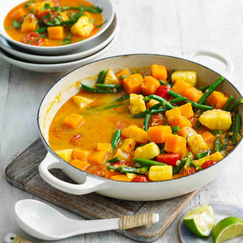 Photo of Creamy Thai vegetable curry by WW