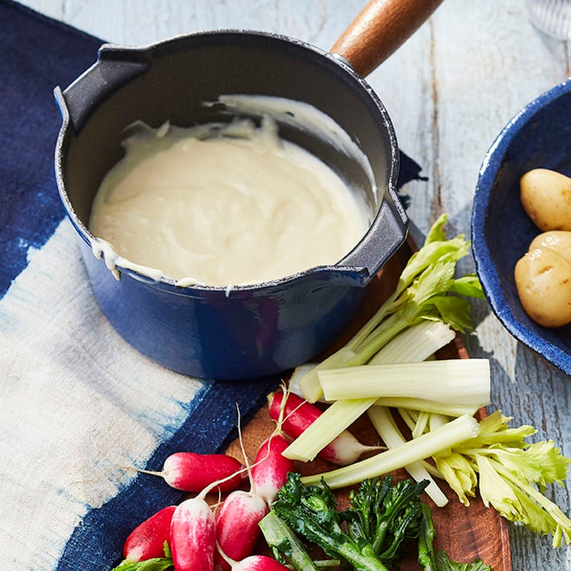 Photo of Cheese fondue with veggie dippers by WW
