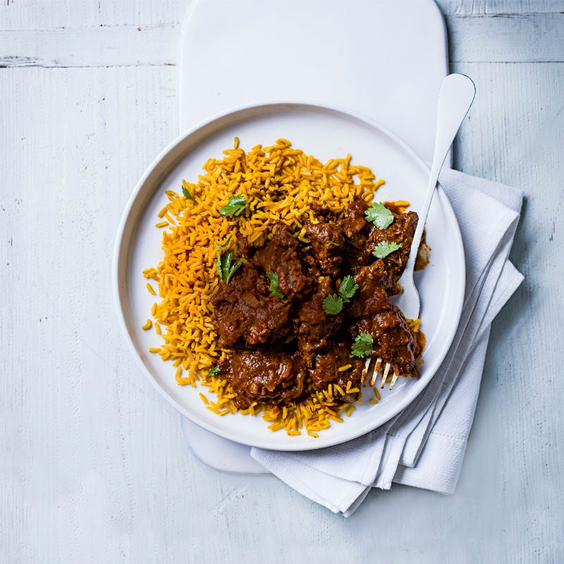 Photo of Beef masala with turmeric rice by WW