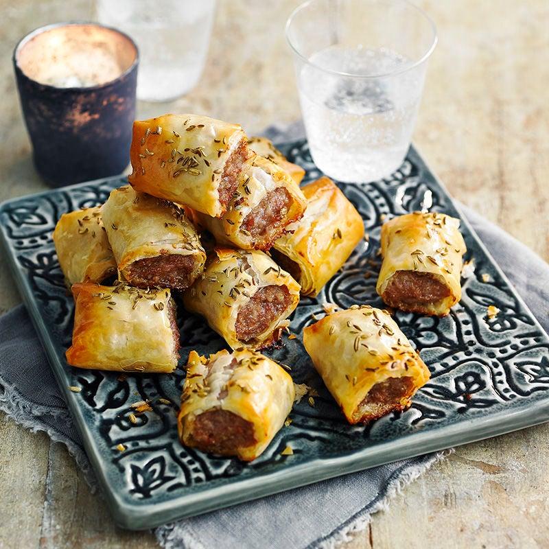 filo sausage rolls healthy recipe ww uk. Black Bedroom Furniture Sets. Home Design Ideas