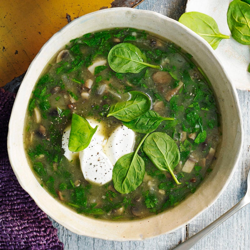 Photo of Mushroom &  spinach soup by WW