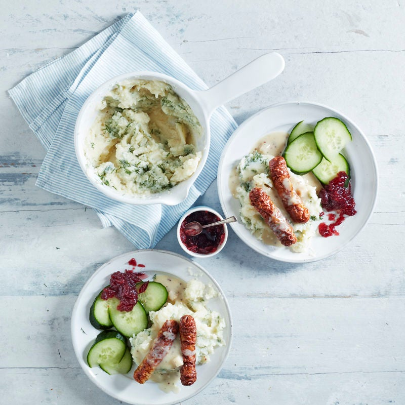 Photo of Scandi-style sausages with mustard sauce & mash by WW
