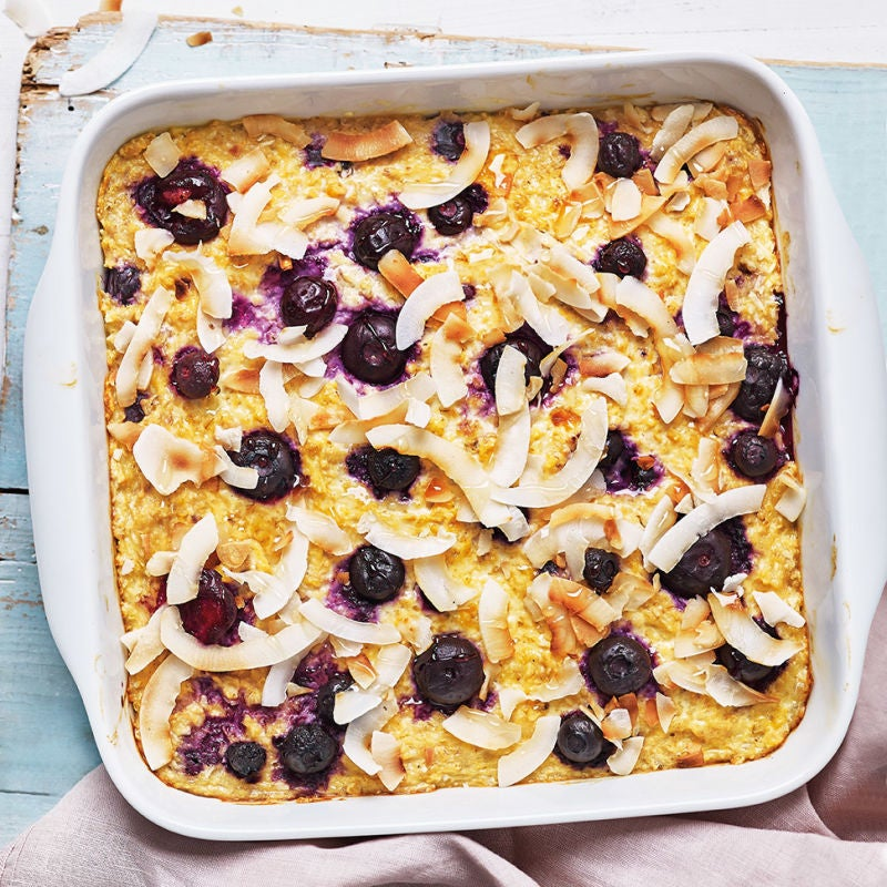 Photo of Coconut & blueberry baked oats by WW