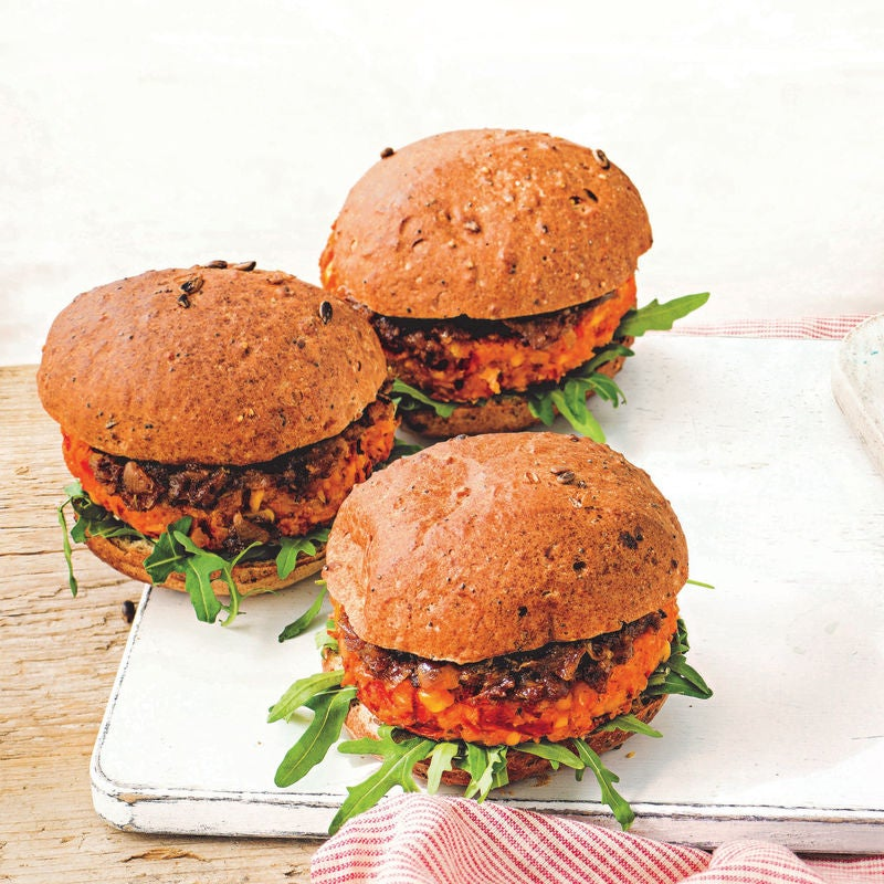 Photo of Sweetcorn, red pepper & chickpea burgers by WW