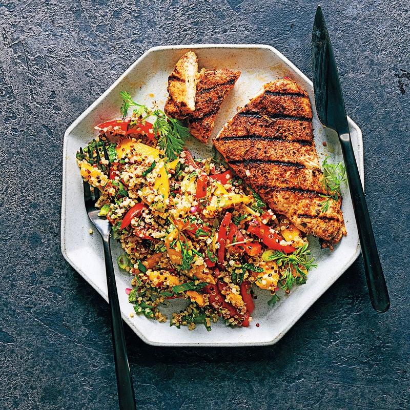 Photo of Jerk chicken with quinoa, mint & mango salad by WW