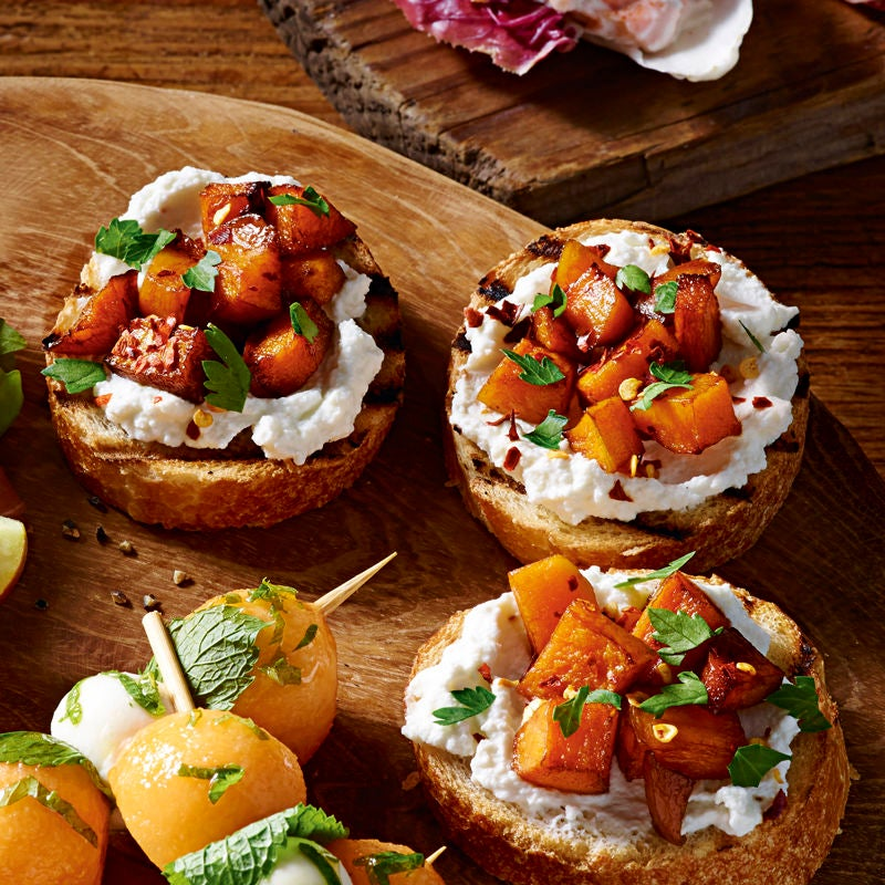 Photo of Squash & ricotta bruschetta by WW