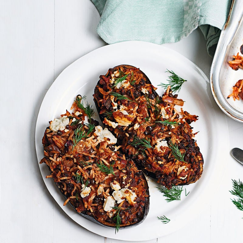 Photo of Stuffed aubergines with dill & feta by WW