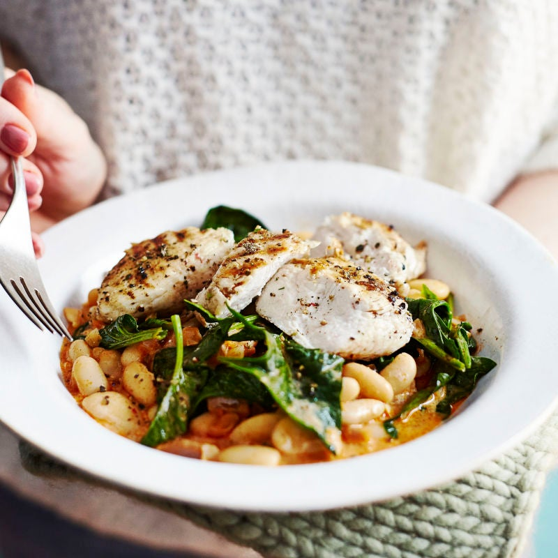 Photo of Chargrilled chicken with smoky beans & spinach by WW