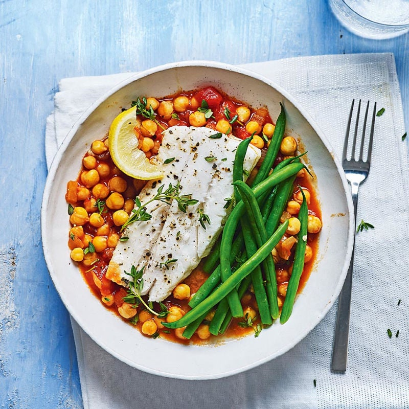 Photo of Haddock with chickpea ragù by WW