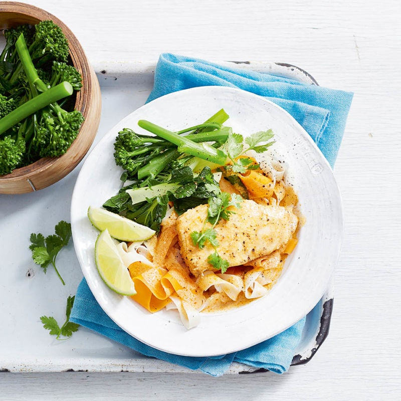 Photo of Red curry cod with noodles by WW