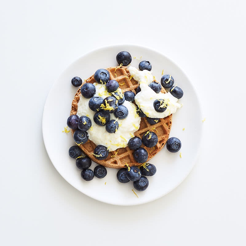 Photo of Waffle with lemony ricotta & blueberries by WW