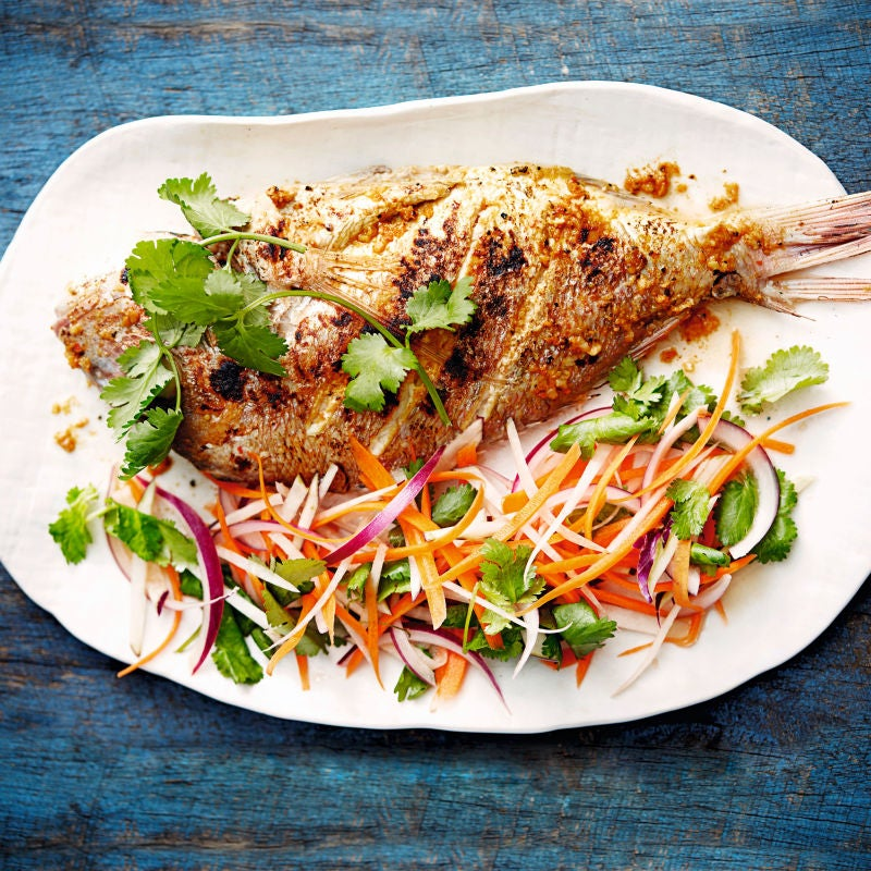 Photo of Moroccan spiced snapper with citrus slaw by WW