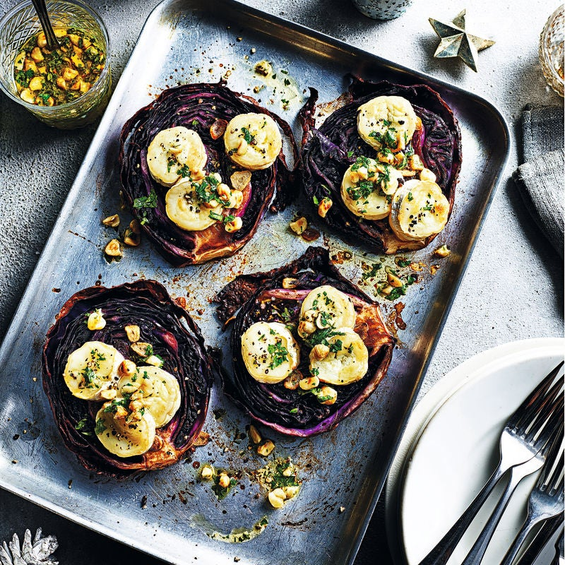 Photo of Roast cabbage steaks with goat's cheese by WW