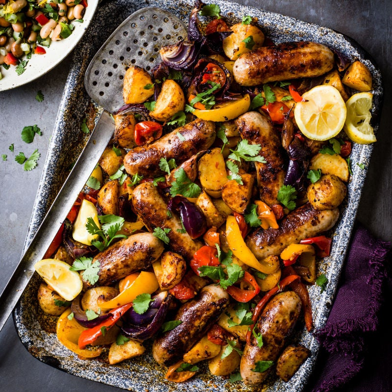 Photo of Harissa sausage traybake by WW