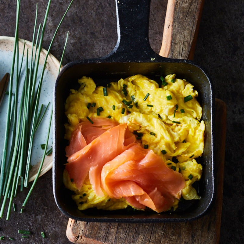 Photo of Scrambled eggs with chives & smoked salmon by WW