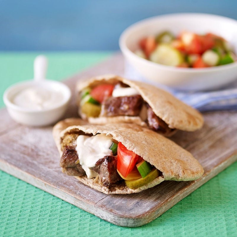 Photo of Lamb shawarma stuffed pittas by WW