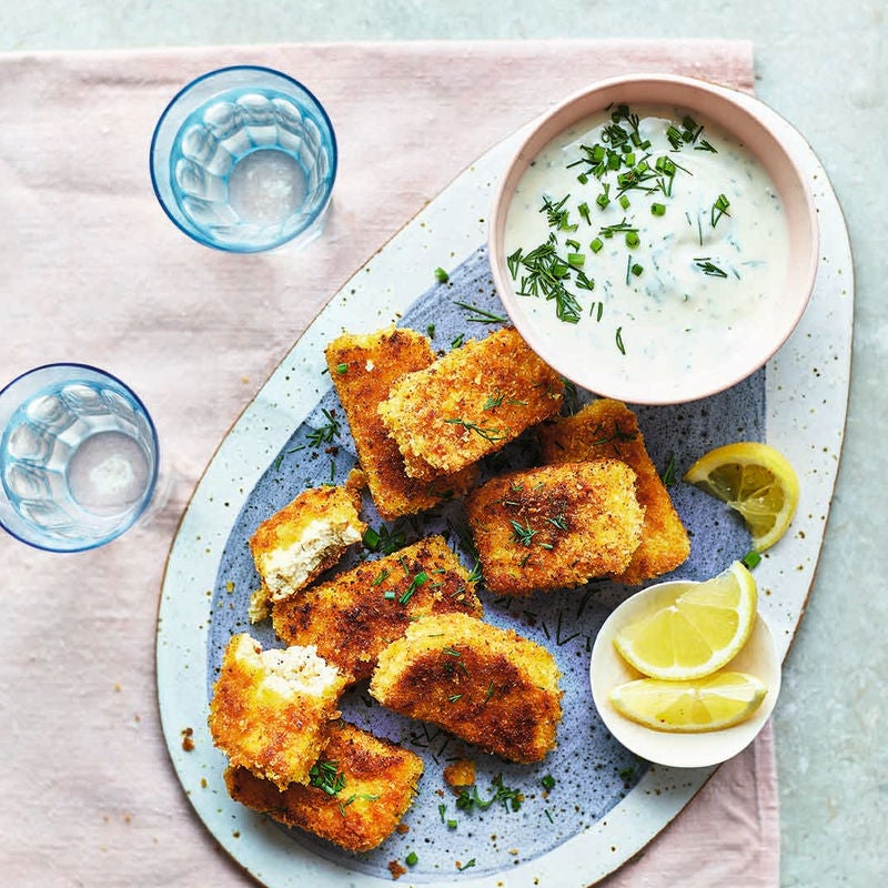 Photo of Tofu nuggets with ranch-style dressing by WW