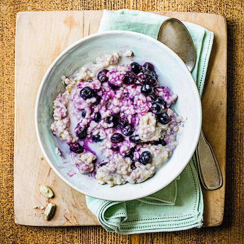 Photo of Coconut, cardamom & blueberry porridge by WW